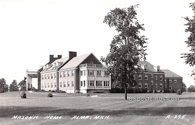 Masonic Home - Alma, Michigan MI Postcard