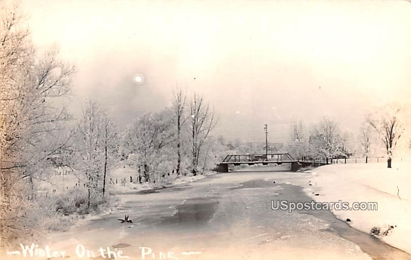 Winter on the Pine - Alma, Michigan MI Postcard