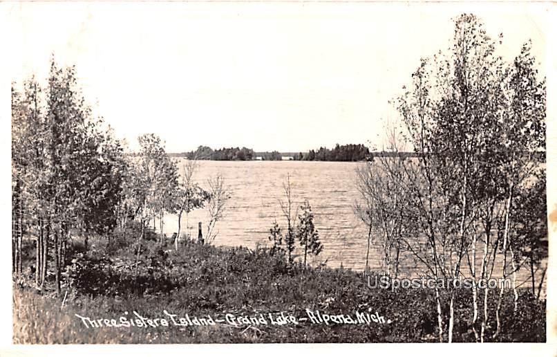 Three Sisters Island - Alpena, Michigan MI Postcard