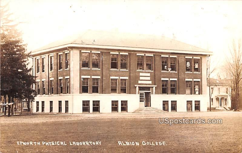 Epworth Physical Laboratory - Albion, Michigan MI Postcard
