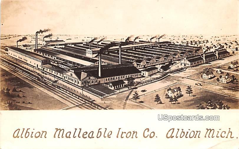 Albion Malleable Iron Co - Michigan MI Postcard