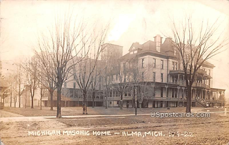 Michigan Masonic Home - Alma Postcard
