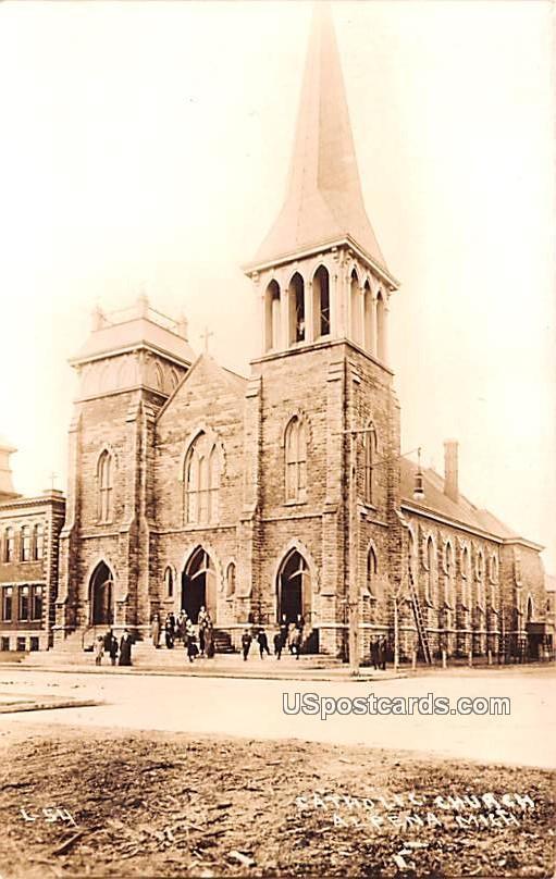 Catholic Church - Alpena, Michigan MI Postcard
