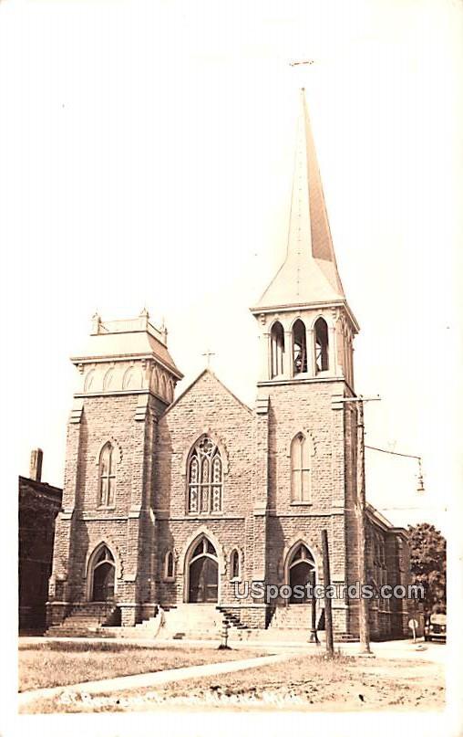 St Bernard Church - Alpena, Michigan MI Postcard