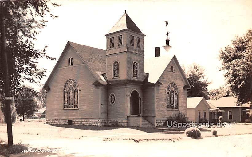 Associated Presbyterian Church - Albia, Michigan MI Postcard