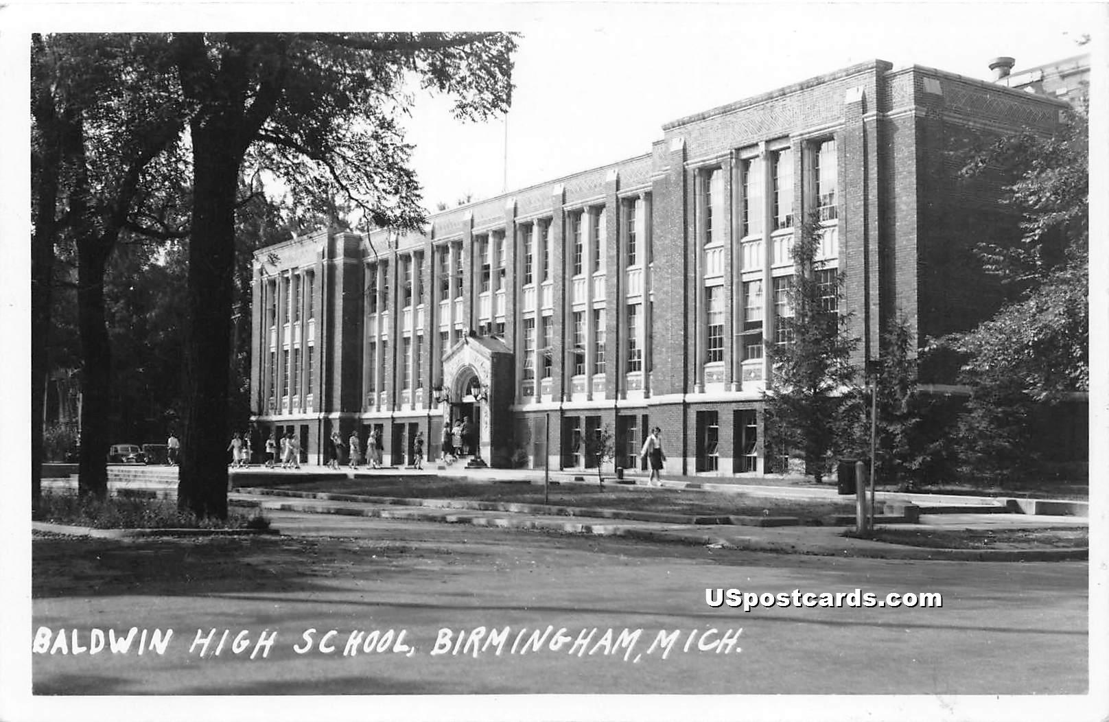 Baldwin High School - Birmingham, Michigan MI Postcard