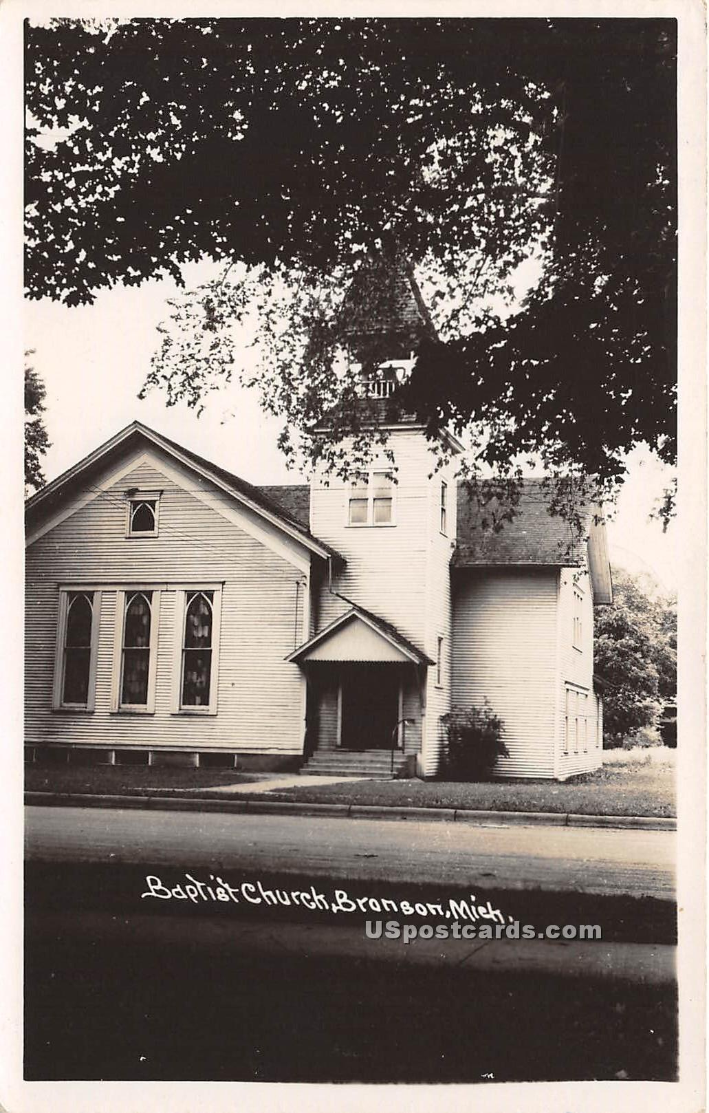 Baptist Church - Branson, Michigan MI Postcard