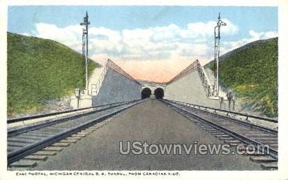 East Portal Michigan Central R. R. Tunnel - MIsc Postcard