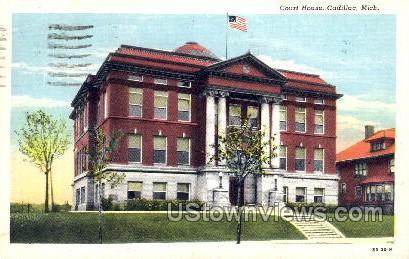 Court House - Cadillac, Michigan MI Postcard