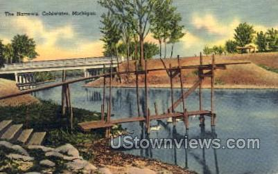 The Narrows - Coldwater, Michigan MI Postcard