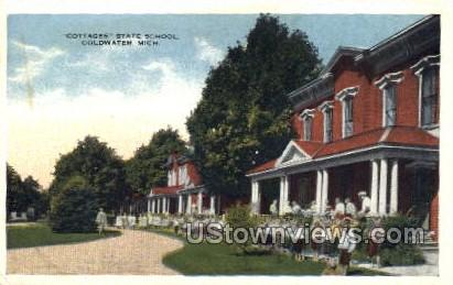 Cottages State School - Coldwater, Michigan MI Postcard