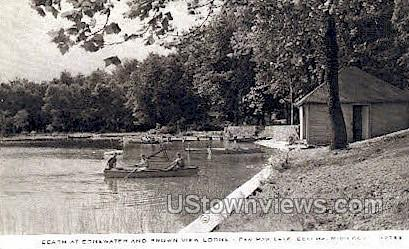 Brown View Lodge - Coloma, Michigan MI Postcard