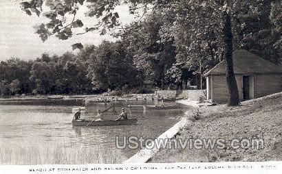 Brown View Lodge - Coloma, Michigan MI Postcard
