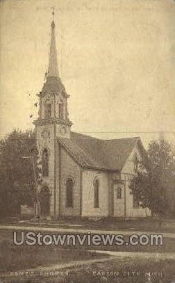 Conco Church - Carson City, Michigan MI Postcard