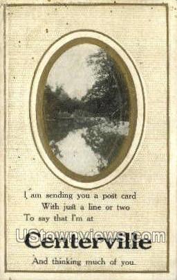 Centerville, Michigan, MI, Postcard