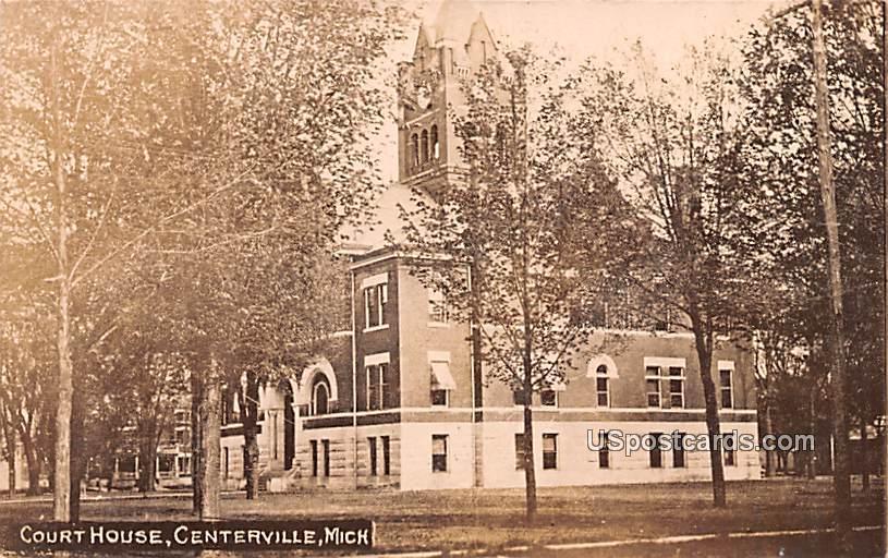 Court House - Centerville, Michigan MI Postcard