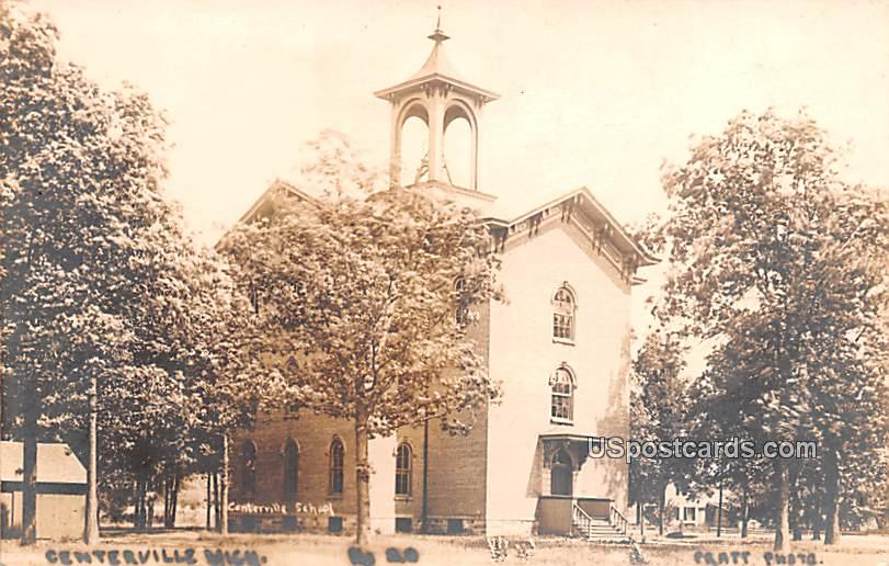 Centerville School - Michigan MI Postcard