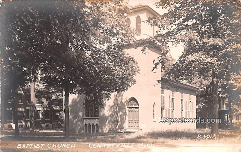 Baptist Church - Centerville, Michigan MI Postcard