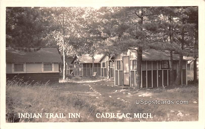 Indian Trail Inn - Cadillac, Michigan MI Postcard