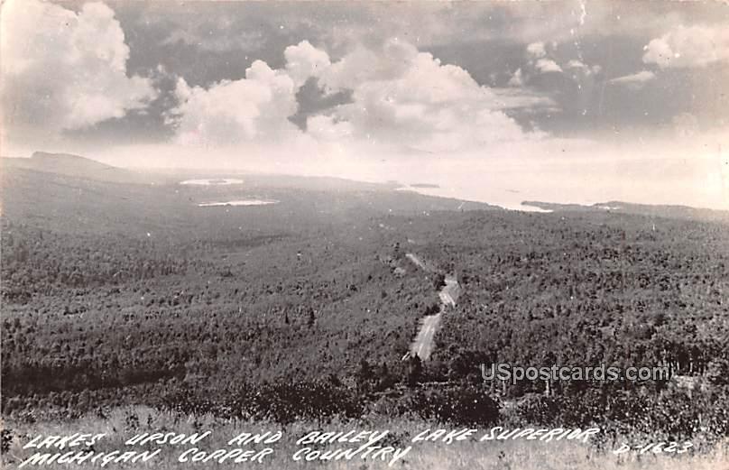 Lake Upson and Bailey - Copper Country, Michigan MI Postcard