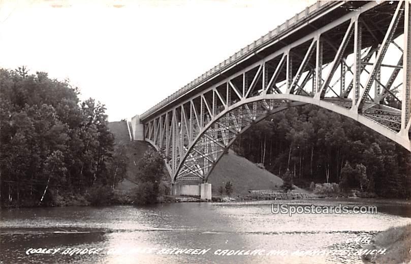 Cooley Bridge on M55 - Cadillac, Michigan MI Postcard
