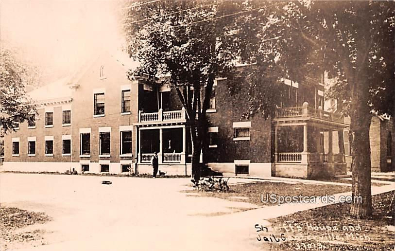 Sheriff's House and Jail - Centerville, Michigan MI Postcard