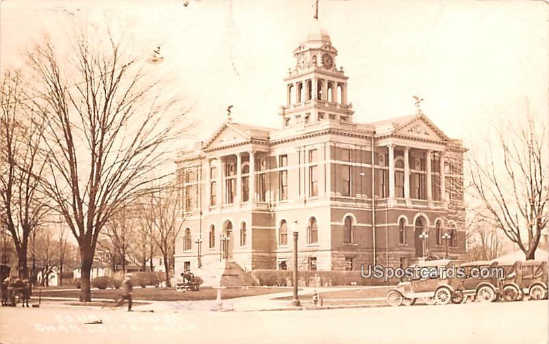 Court House - Charlotte, Michigan MI Postcard