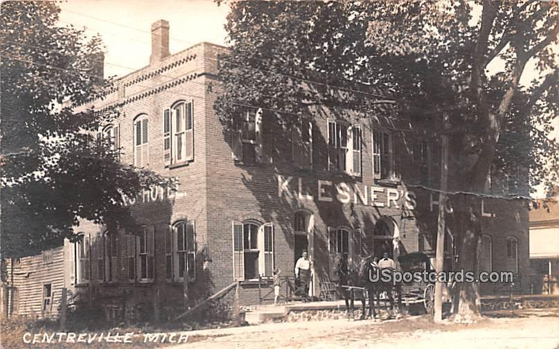 Klesner's Hotel - Centerville, Michigan MI Postcard