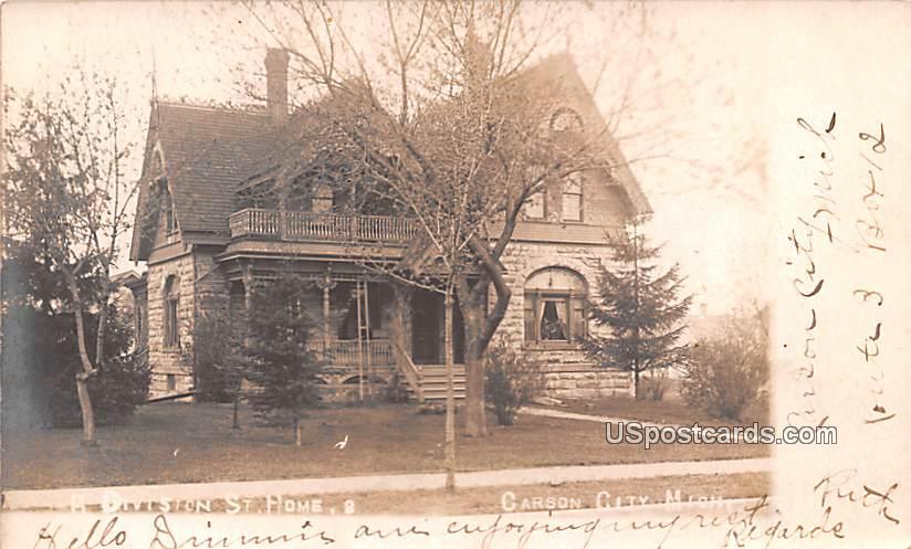 A Division St Home - Carson City, Michigan MI Postcard