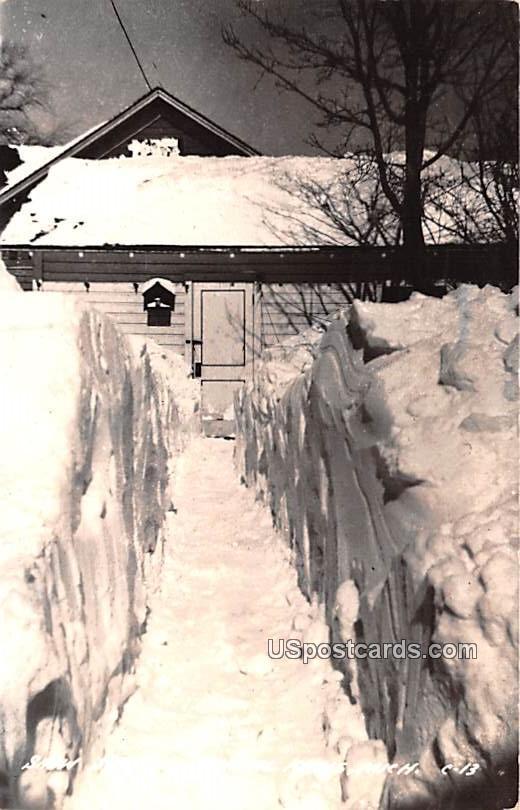 Snow Scene - Crystal Falls, Michigan MI Postcard
