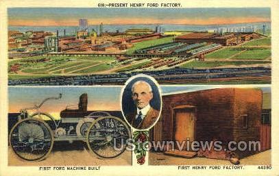 Henry Ford Factory - Detroit, Michigan MI Postcard