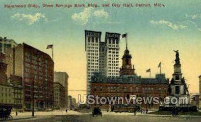 Hammond Bldg - Detroit, Michigan MI Postcard