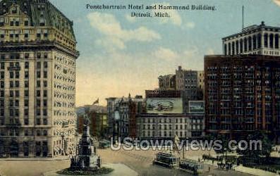 Pontchartrain Hotel - Detroit, Michigan MI Postcard