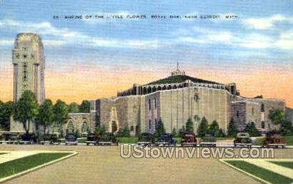 Little Flower, Royal Oak - Detroit, Michigan MI Postcard