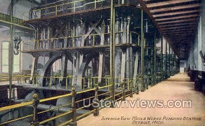 Water Works Pumping Station - Detroit, Michigan MI Postcard