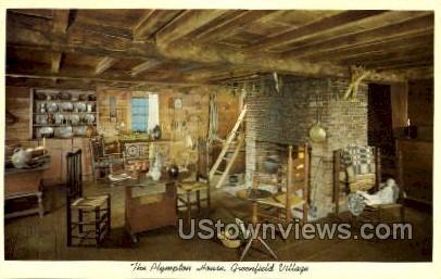 The Plympton House, Greenfield Village - Dearborn, Michigan MI Postcard