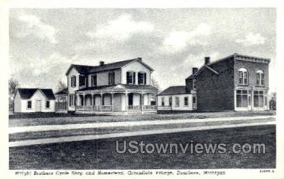 Wright Brothers Cycle Shop - Dearborn, Michigan MI Postcard