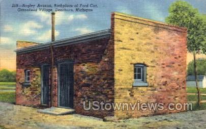 Birthplace of Ford Car - Dearborn, Michigan MI Postcard