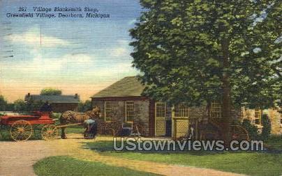 Village Blacksmith Shop, Greenfield Village - Dearborn, Michigan MI Postcard