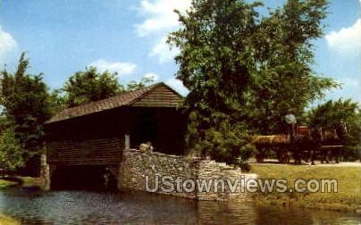 Covered Bridge, Greenfield Village - Dearborn, Michigan MI Postcard