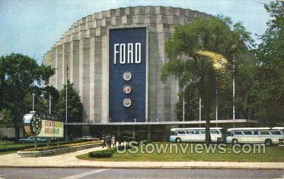Ford Rotunda - Dearborn, Michigan MI Postcard