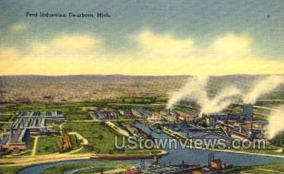 Ford Industries - Dearborn, Michigan MI Postcard