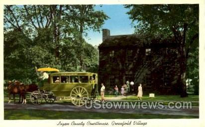 Logan County Courthouse, Greenfield Village - Dearborn, Michigan MI Postcard