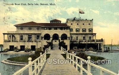 Detroit Boat Club, Belle Isle - Michigan MI Postcard