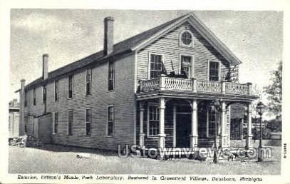 Edison's Menlo Park Laboratory - Dearborn, Michigan MI Postcard