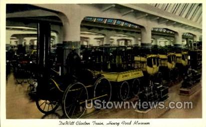 DeWitt Clinton Train Henry Ford Museum - Dearborn, Michigan MI Postcard
