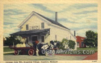 Loranger Grist Mill, Greenfield Village - Dearborn, Michigan MI Postcard