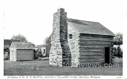 Birthplace of Dr. W. H. McGuffey,  - Dearborn, Michigan MI Postcard