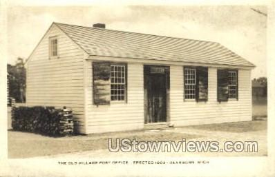 The Old Village Post Office - Dearborn, Michigan MI Postcard