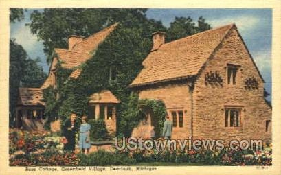 Rose Cottage, Greenfield Village - Dearborn, Michigan MI Postcard